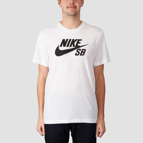 Nike SB Dri-Fit Logo Tee White/Black - Clothing