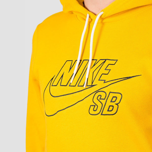 Nike SB Embroidered Icon Pullover Hood Dark Sulfur/Obsidian - Clothing