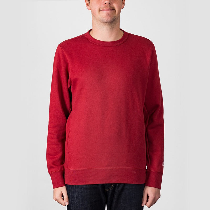 Nike SB Essential Icon Crew Sweat Team Crimson/Team Crimson - Clothing