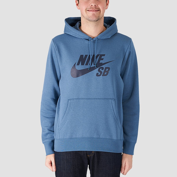 Nike SB Essential Icon Pullover Hood Thunderstorm/Obsidian - Clothing