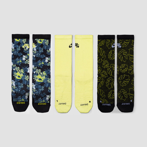 Nike SB Everyday Max Lightweight 3 Pack Socks Multi/Color - Unisex