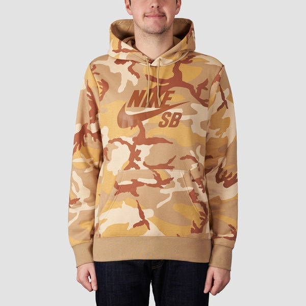 Nike SB Icon ERDL Camo Pullover Hood Desert Ore/Parachute Beige/Ale Brown - Clothing