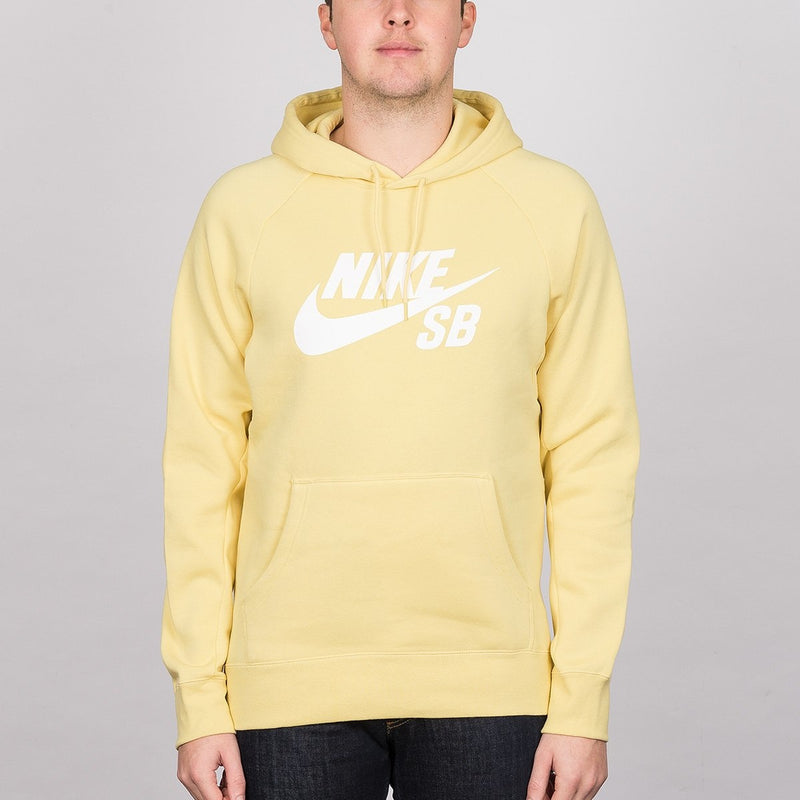 Nike SB Icon Pullover Hood Lemon Wash/White - Clothing
