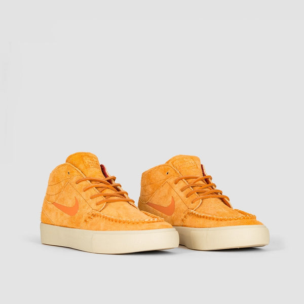 Nike SB Janoski Mid Ultra Crafted Cinder Orange/Cinder Orange/Team Gold - Unisex L - Footwear