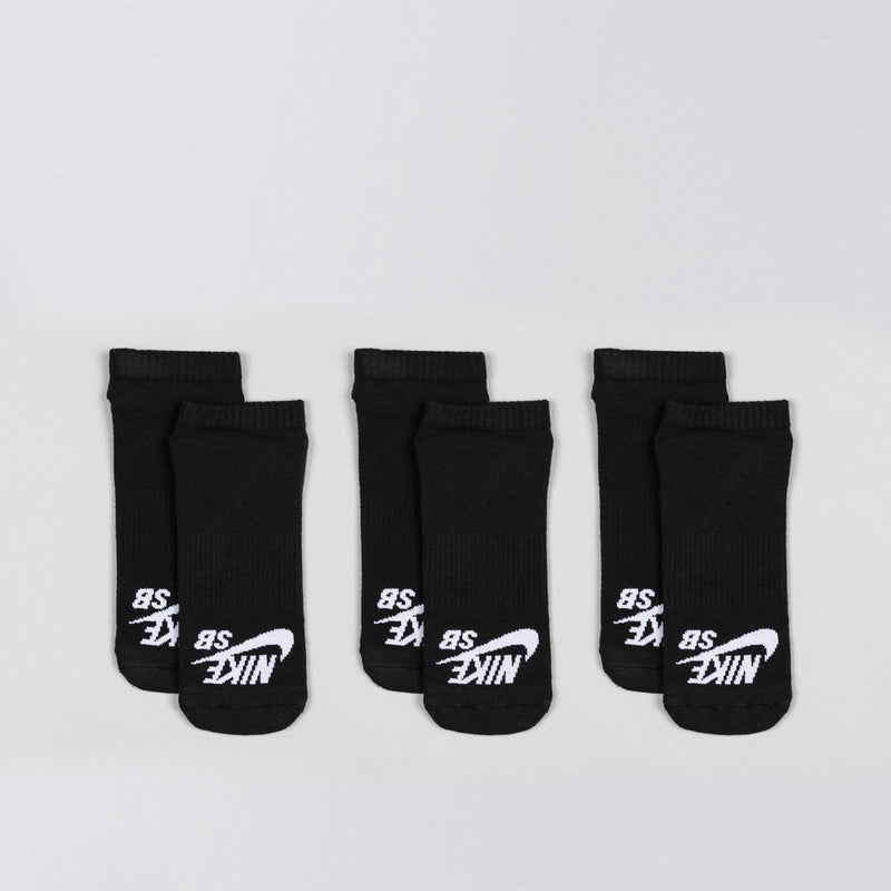 Nike SB No-Show Sock 3 Pack Black/White - Unisex - Accessories