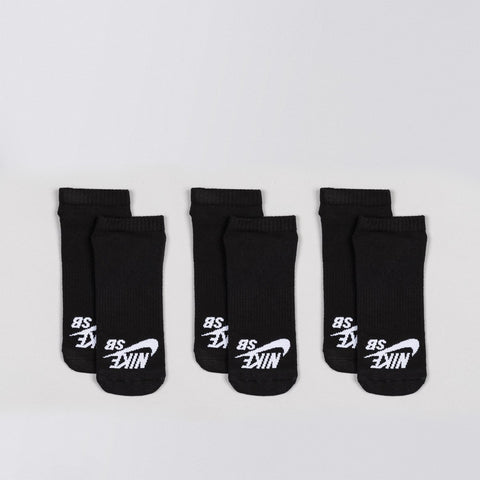 Nike SB No-Show Sock 3 Pack Black/White - Unisex