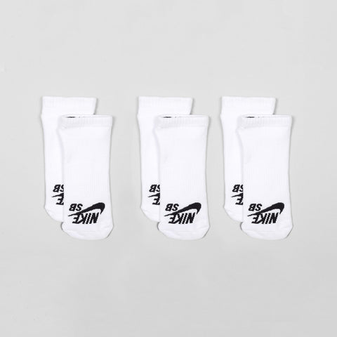 Nike SB No-Show Sock 3 Pack White/Black - Unisex