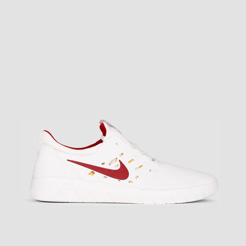 Nike SB Nyjah Free Summit White/Team Crimson - Unisex L