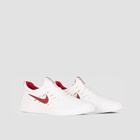 Nike SB Nyjah Free Summit White/Team Crimson - Unisex L - Footwear