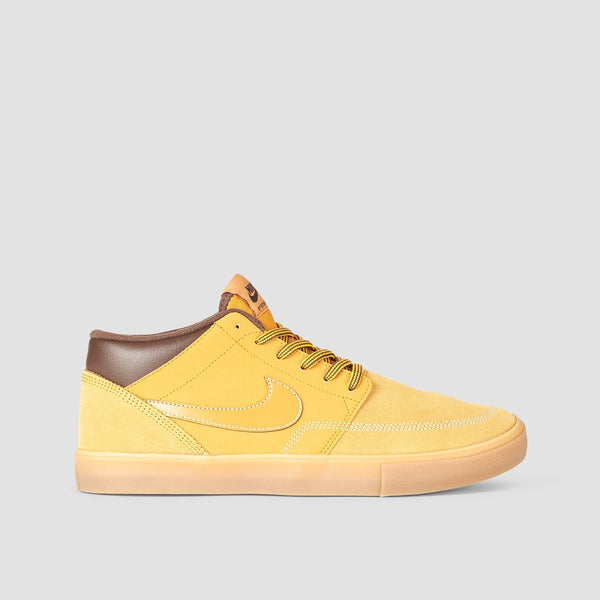 Nike SB Portmore II Solar Mid Bota Wheat Pack Bronze/Bronze/Gum Light Brown - Footwear