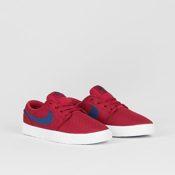 Nike SB Portmore II Ultralight Red Crush/Blue Void/White - Kids - Footwear