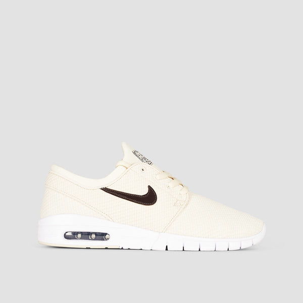 Nike SB Stefan Janoski Max Light Cream/Velvet Brown/White - Kids - Footwear