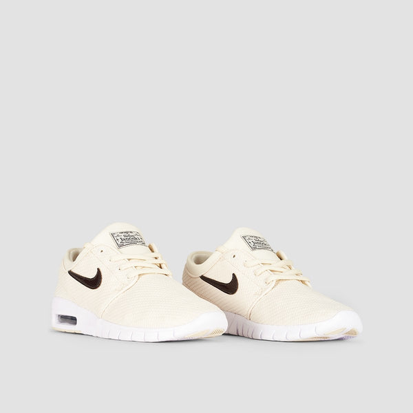 Nike SB Stefan Janoski Max Light Cream/Velvet Brown/White - Unisex L - Footwear