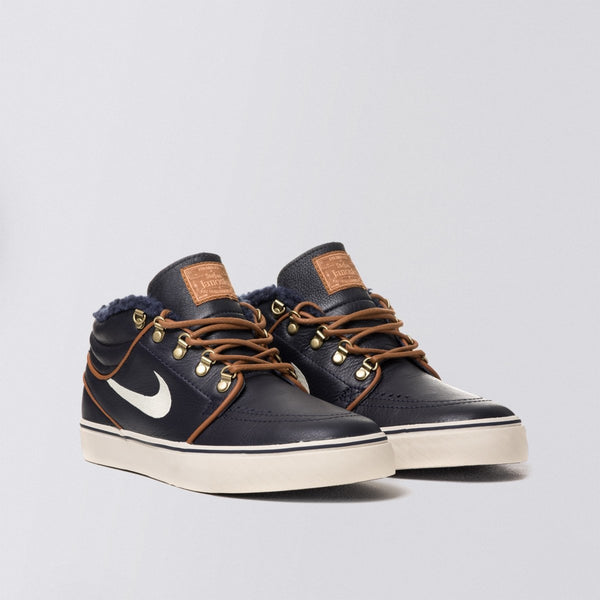 Nike SB Stefan Janoski Mid PR Dark Obsidian/Birch/Light British Tan - Footwear