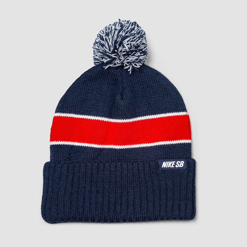 Nike SB Utility Beanie Midnight Navy/University Red/White/White - Unisex