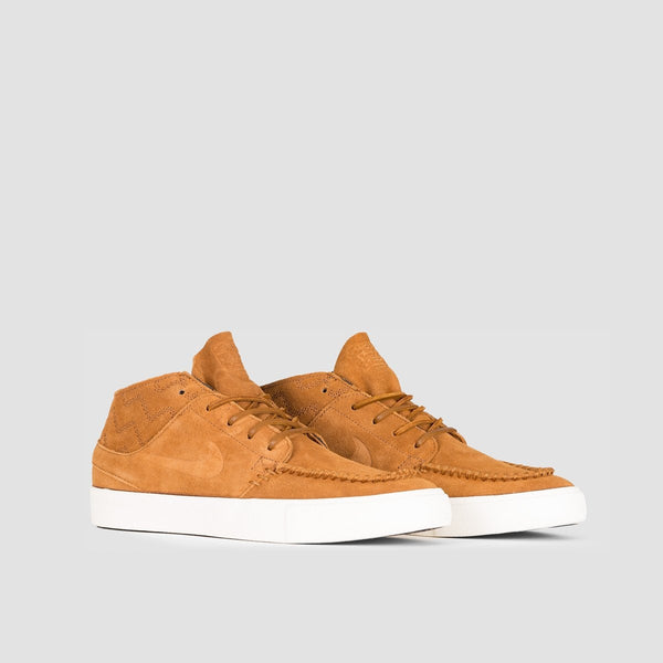 Nike SB Zoom Janoski Mid RM Crafted Light British Tan/Light British Tan/Black - Unisex L - Footwear