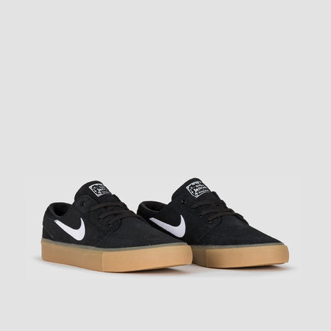 Nike SB Zoom Janoski RM Black/White/Black/Gum Light Brown - Unisex L - Footwear