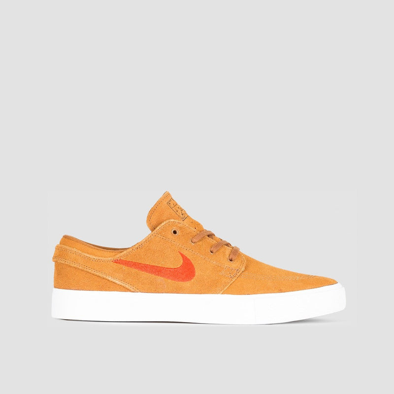 Nike SB Zoom Janoski RM Light British Tan/Mystic Red/White/Gum Light Brown - Unisex L - Footwear
