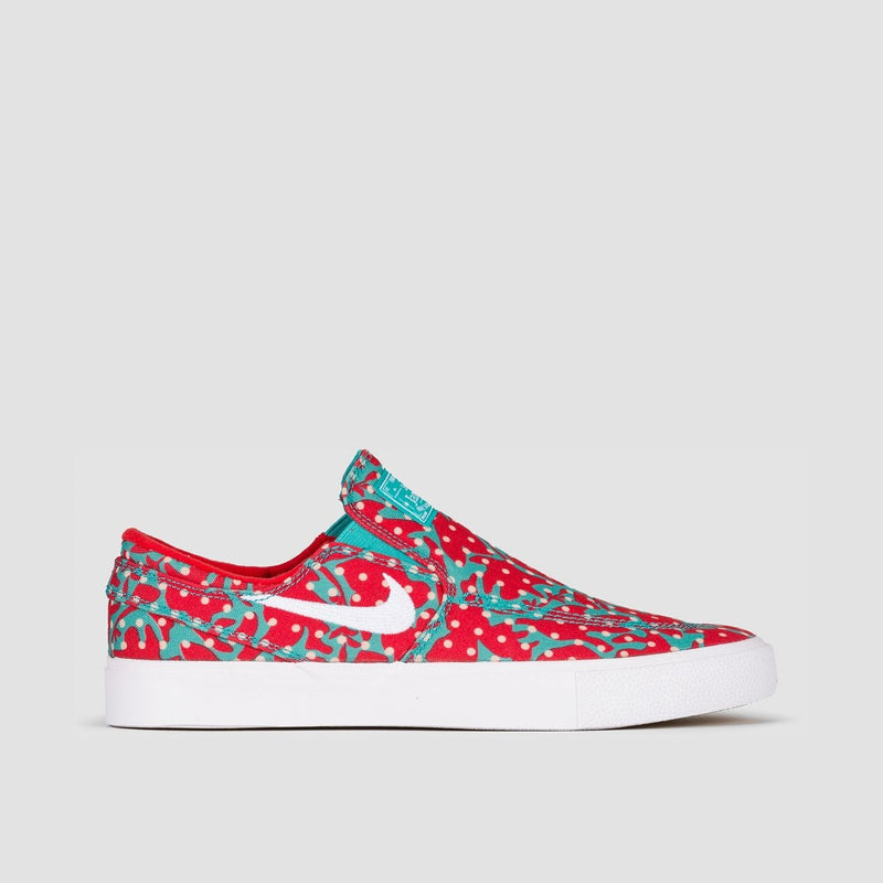 Nike SB Zoom Janoski Slip RM Canvas Cabana/White/Desert Ore/University Red - Unisex L - Footwear