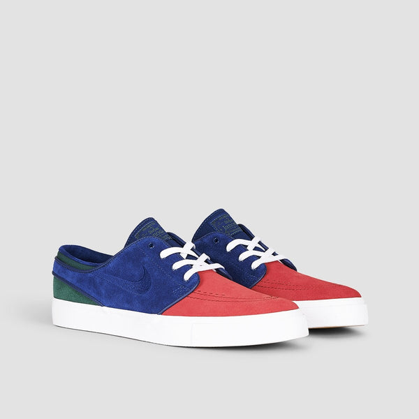 Nike SB Zoom Stefan Janoski Red Crush/Blue Void/White/Midnight Green - Footwear