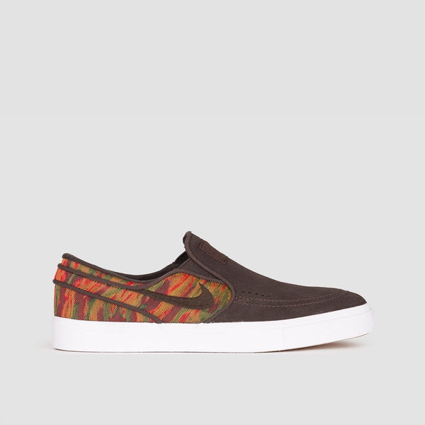 Nike SB Zoom Stefan Janoski Slip On Premium Guatemalan Velvet Brown/Velvet Brown/Multi Colour - Footwear