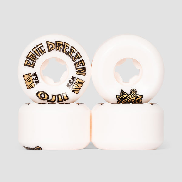 OJ Dressen2 Gold Hardline 99a Elite Wheels White 55mm