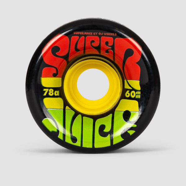 OJ Jamaica Super Juice 78a Soft Wheels Black 60mm