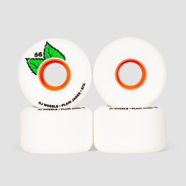 OJ Plain Jane Keyframe 87a Soft Wheels White 56mm