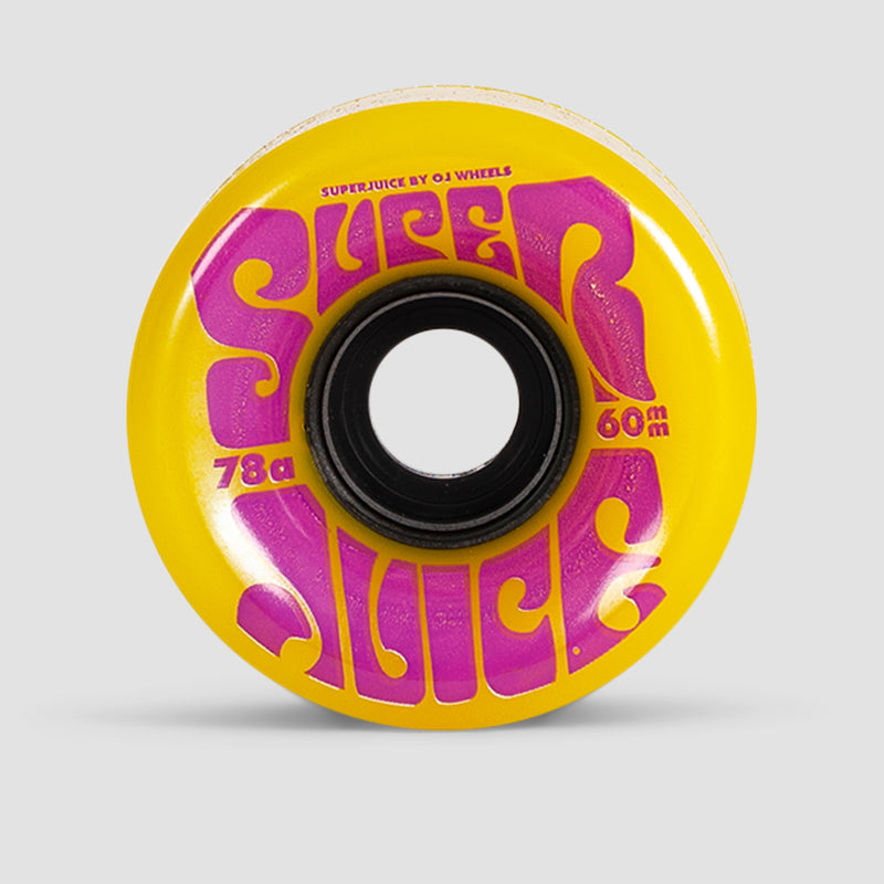 OJ Super Juice 78a Soft Wheels Yellow 60mm