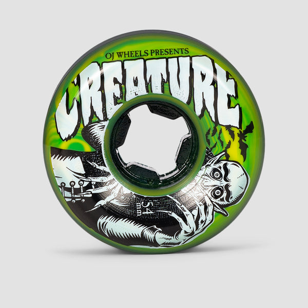 OJ Vampire Bloodsuckers Swirl 97a Wheels Green/Yellow 54mm