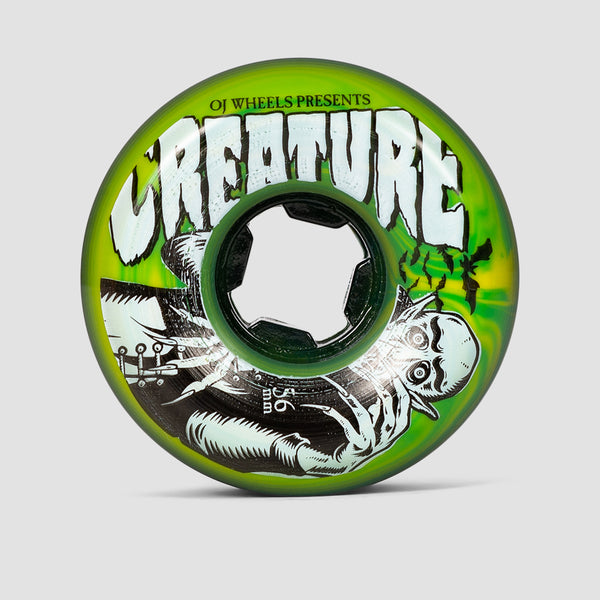 OJ Vampire Bloodsuckers Swirl 97a Wheels Green/Yellow 56mm