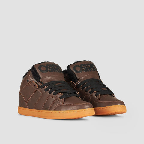 Osiris Convoy Mid Shearling Brown/Black - Footwear