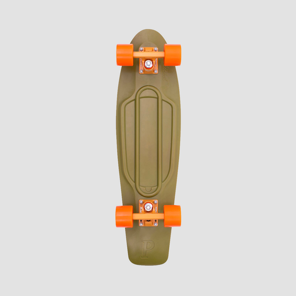 Penny Burnt Olive Cruiser Complete Green/Orange - 27""