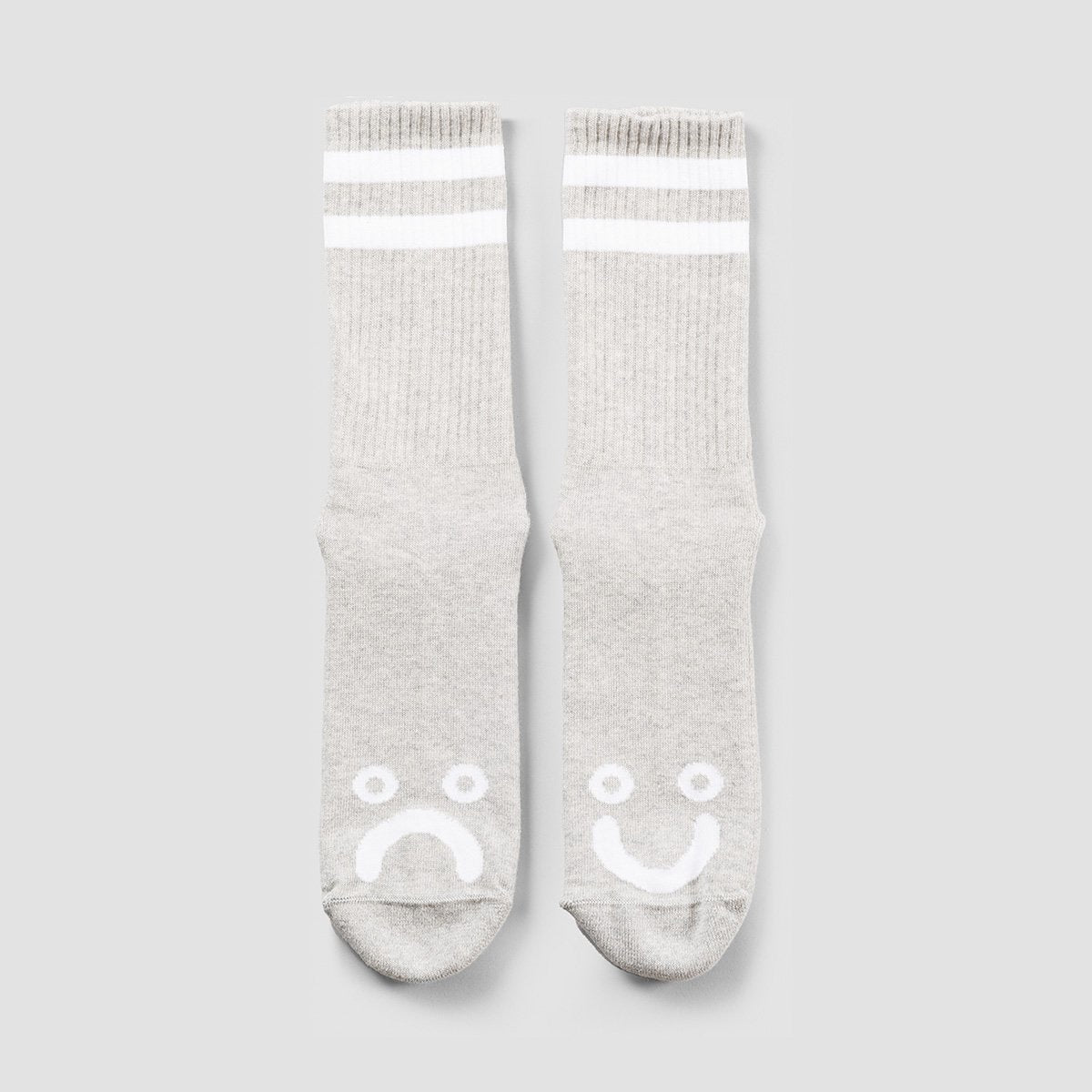 Polar Happy Sad Socks Heather Grey- Unisex - Accessories