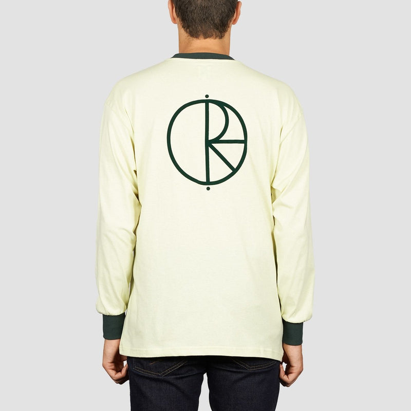 Polar Offside Longsleeve Tee Seafoam Green/Dark Green - Clothing