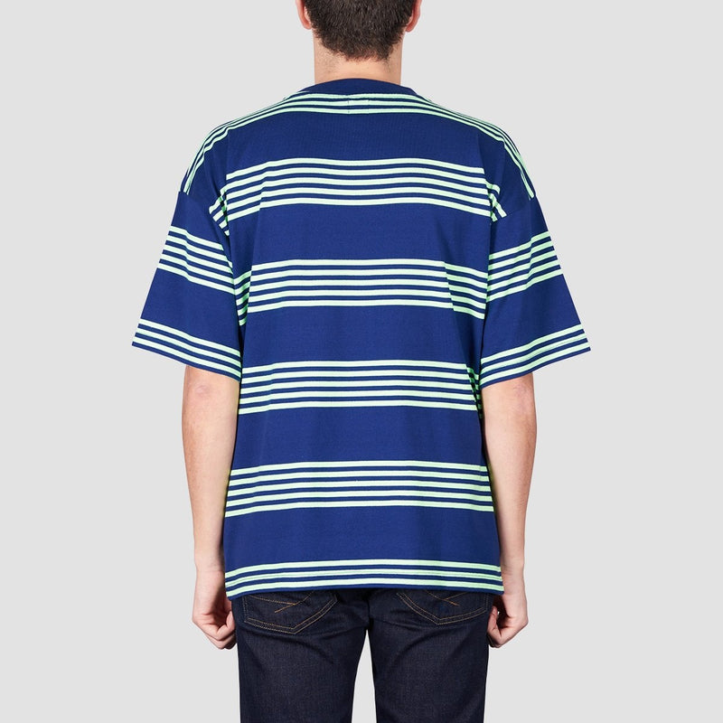 Polar Striped Surf Tee Dark Blue/Gecko Green - Clothing