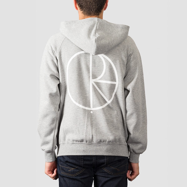 Polar Stroke Logo Zip Hood Heather Grey - Clothing