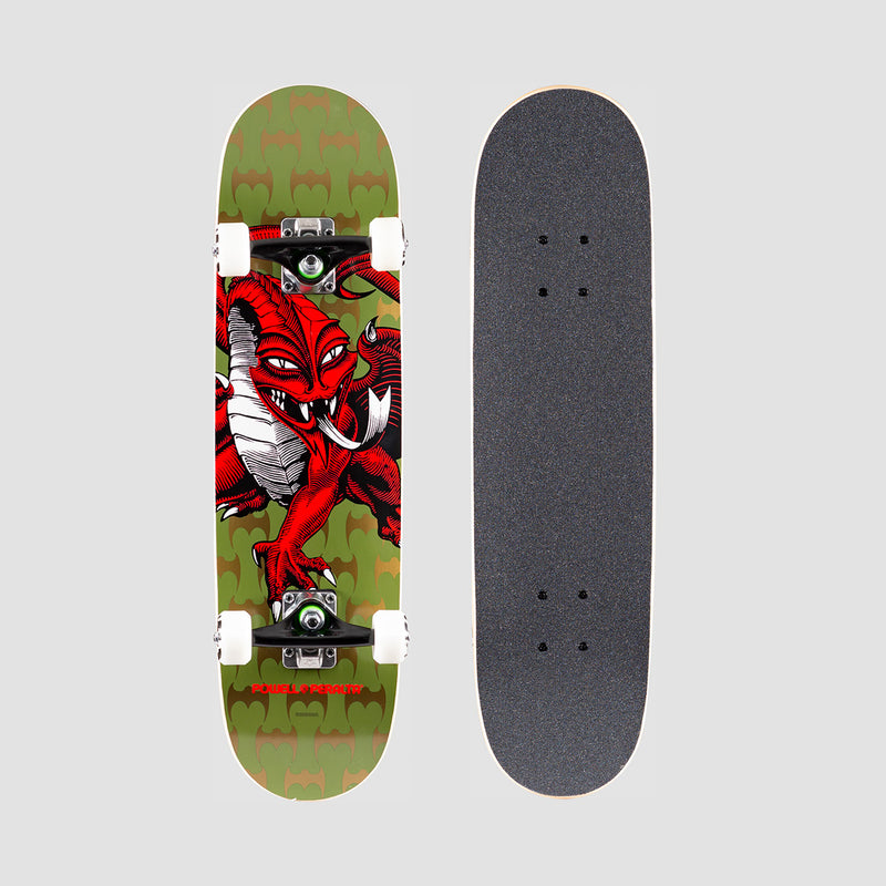 Powell Peralta Cab Dragon One Off 191 Pre-Built Complete Olive - 7.5""