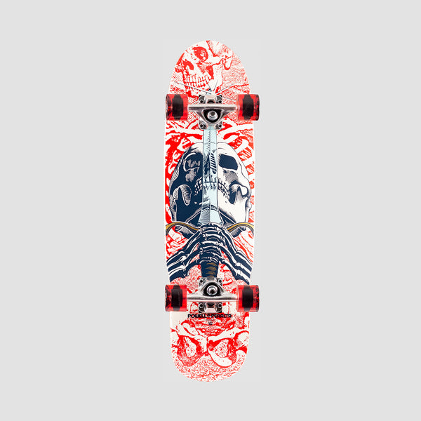 Powell Peralta Mini Skull & Sword 186 Pre-Built Complete White - 8""