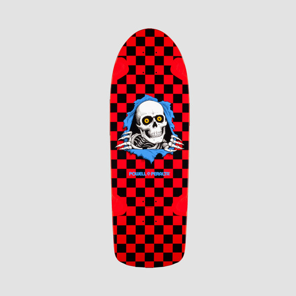 Powell Peralta O.G. Ripper Checker 9 265 Reissue Deck Red/Black - 10""