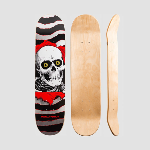 Powell Peralta One Off Ripper PP Deck Silver/Black - 7 - Skateboard