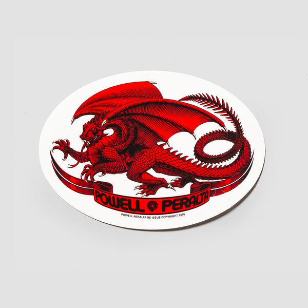 Powell Peralta Oval Dragon Sticker Red 125x90mm