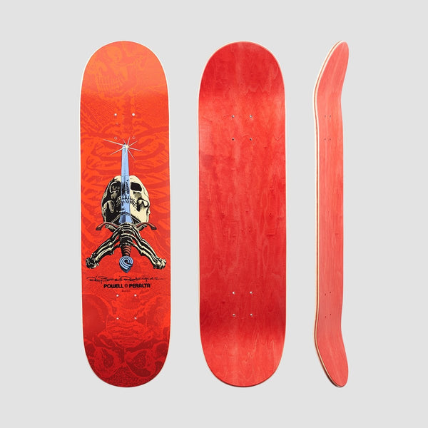 Powell Peralta Ray Rodriguez Skull & Sword Deck Red - 8.25 - Skateboard