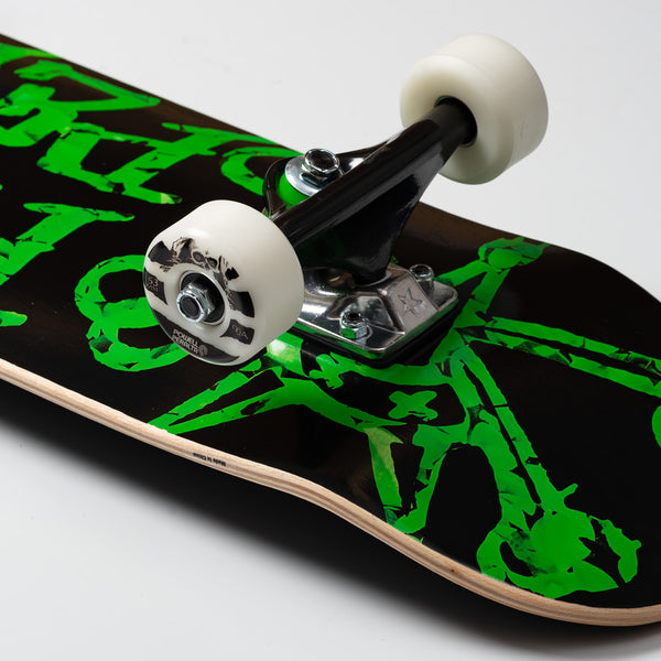Powell Peralta Vato Rats Leaves Shape 191 Pre-Built Complete Black - 7.5""