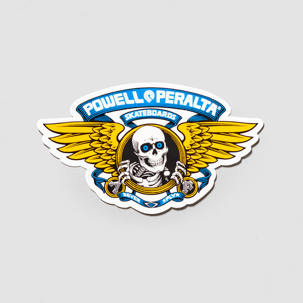 Powell Peralta Winged Ripper Die Cut Sticker Blue 125x75mm