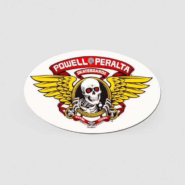 Powell Peralta Winged Ripper Oval Sticker Red 170x105mm