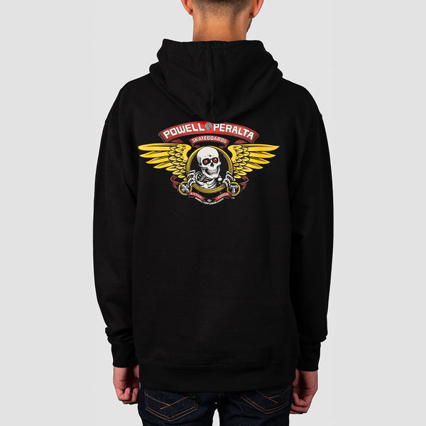 Powell Peralta Winged Ripper Pullover Hood Black