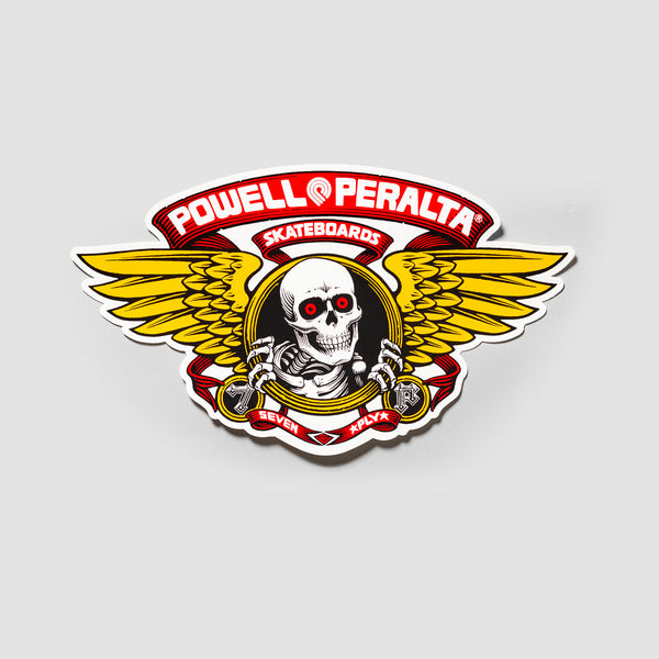 Powell Peralta Winged Ripper Ramp Sticker Red 310x175mm