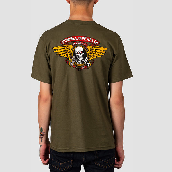 Powell Peralta Winged Ripper Tee Military Green