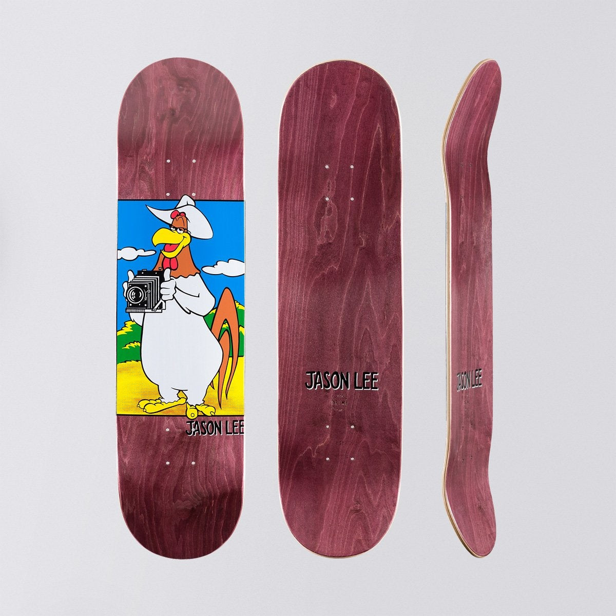 Prime Jason Lee Camera Foghorn Popsicle Deck Brown - 8.25 - Skateboard